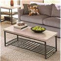 Riverside Furniture Capri Travertine Top Coffee Table