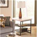 Riverside Furniture Capri End Table w/ Shelves - 77709