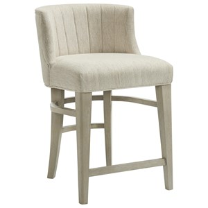 Upholstered Curved Back Counter Stool
