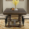 Riverside Furniture Cassidy Trestle Dining Table with 2 18