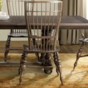 Riverside Furniture Cassidy Windsor Side Chair in Aged Cask Finish