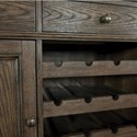 Riverside Furniture Cassidy Traditional Buffet with Wine Bottle Storage