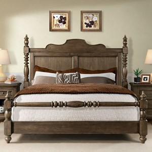 Riverside Furniture Cassidy Queen Poster Bed