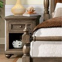 Riverside Furniture Cassidy Traditional Nightstand with USB Port