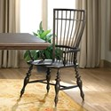 Riverside Furniture Cassidy Windsor Arm Chair in Charred Oak Finish