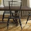 Riverside Furniture Cassidy Windsor Side Chair in Charred Oak Finish