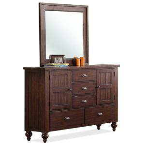 Riverside Furniture Castlewood Dresser and Mirror Combo