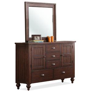 Riverside Furniture Castlewood Dresser and Mirror Combo