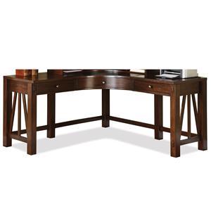 Riverside Furniture Castlewood Curved Corner Desk