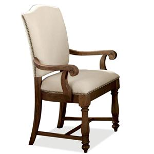 Riverside Furniture Castlewood Upholstered Dining Arm Chair