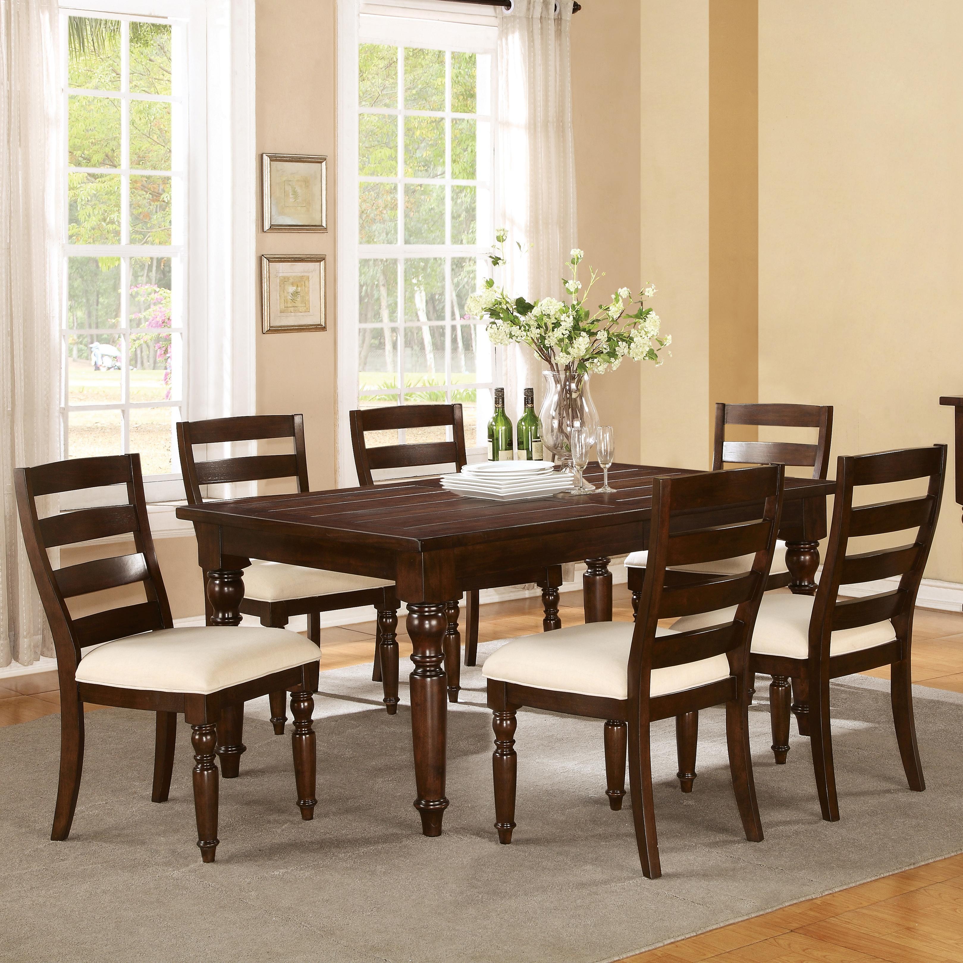 Riverside Furniture Castlewood 7 Piece Dining Set - Item Number: 33590+6x33592