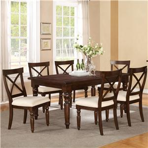 Riverside Furniture Castlewood 7 Piece Dining Set