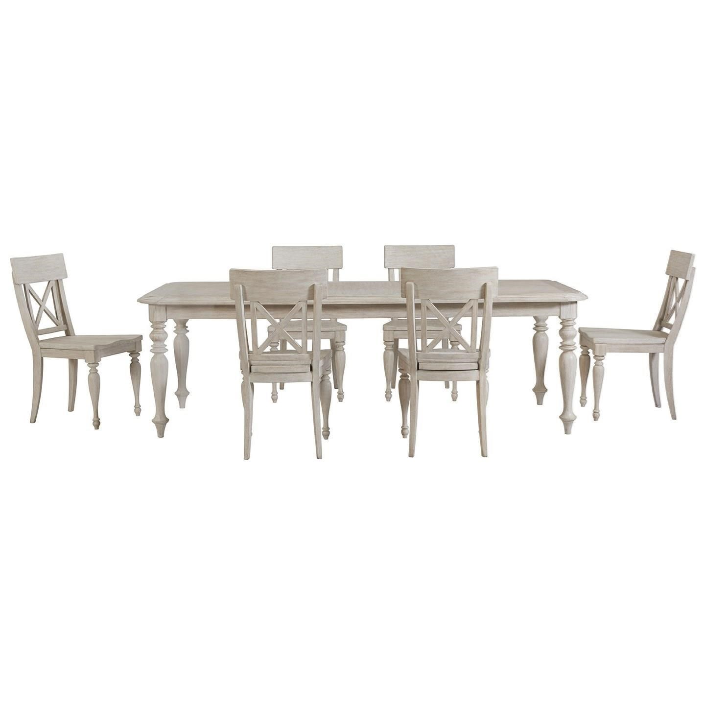 Stupendous Charleston Retreat Cottage 7 Piece Dining Table And Chair Set By Riverside Furniture At Furniture Barn Interior Design Ideas Grebswwsoteloinfo