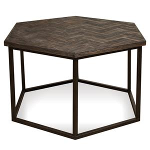 Riverside Furniture Chevron Hexagon Coffee Table