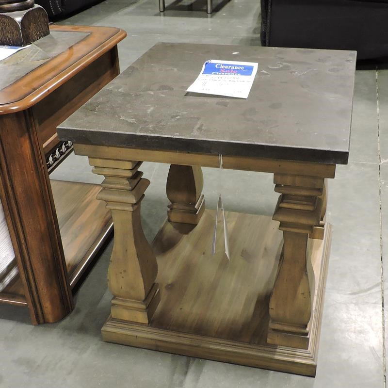End Table w/ Blue stone Top