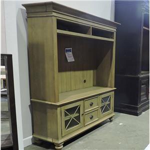 Riverside Furniture     Media Console & Hutch