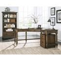 Riverside Furniture Cordero Traditional Corner Desk with Turned Legs