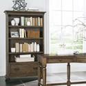 Riverside Furniture Cordero 3 Shelf Bookcase in Aged Oak Finish