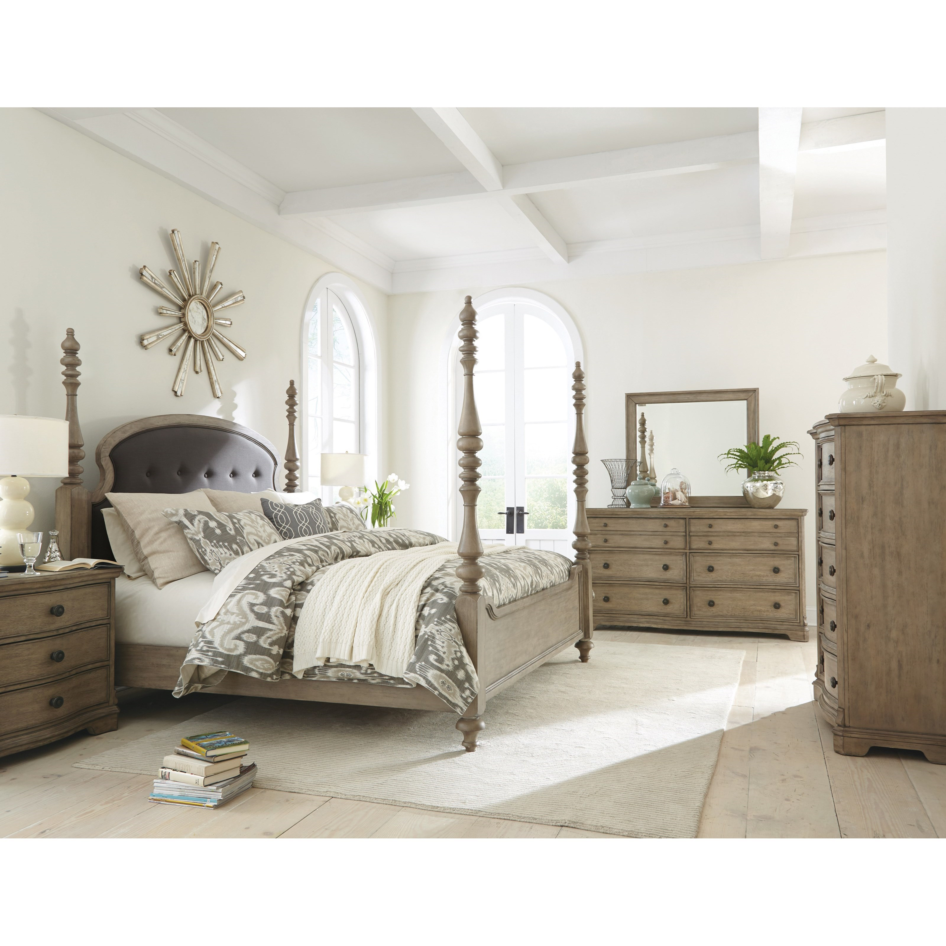 Riverside Furniture Corinne King Bedroom Group 3 - Item Number: 215 K Bedroom Group 3