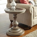 Riverside Furniture Corinne Round End Table with Marble Insert