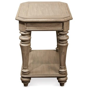 Riverside Furniture Corinne Chairside Table