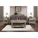 Riverside Furniture Corinne Chairside Table with Turned Legs