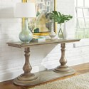 Riverside Furniture Corinne Rectangle Sofa Table with Double Pedestal Base