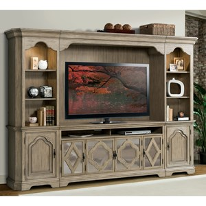 Riverside Furniture Corinne Entertainment Wall Unit