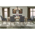 Riverside Furniture Corinne 7 Piece Traditional Table and Upholstered Chair Set