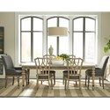 Riverside Furniture Corinne 7 Piece Traditional Table and Diamond Back Chair Set
