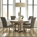 Riverside Furniture Corinne 5 Piece Table and Chair Set - Item Number: 21551+2+4x7