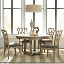 Riverside Furniture Corinne 5 Piece Table and Chair Set - Item Number: 21551+2+4x9