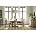 Riverside Furniture Corinne Round Dining Table with 18