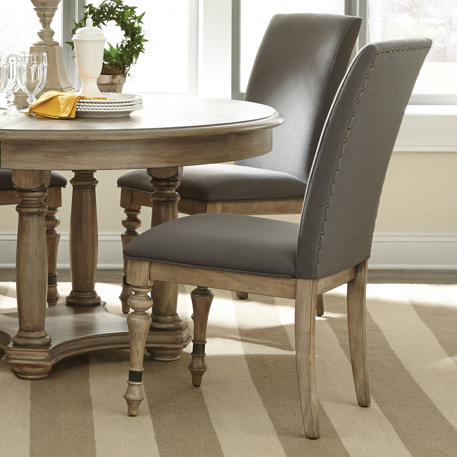 dining room chairs for less | Riverside Furniture Corinne Upholstered Side Chair with ...