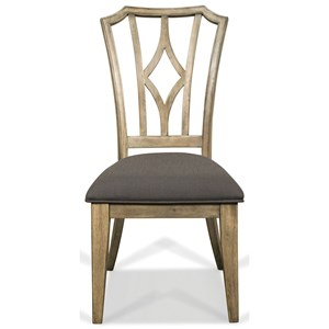 Upholstered Diamond Back Side Chair