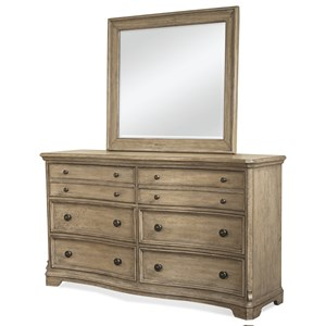 Riverside Furniture Corinne Dresser and Mirror Combo