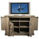 Riverside Furniture Corinne Media Chest with Hidden End Doors