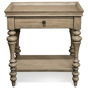 Leg Nightstand-Wood Top