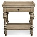 Riverside Furniture Corinne Leg Nightstand-Wood Top - Item Number: 21566