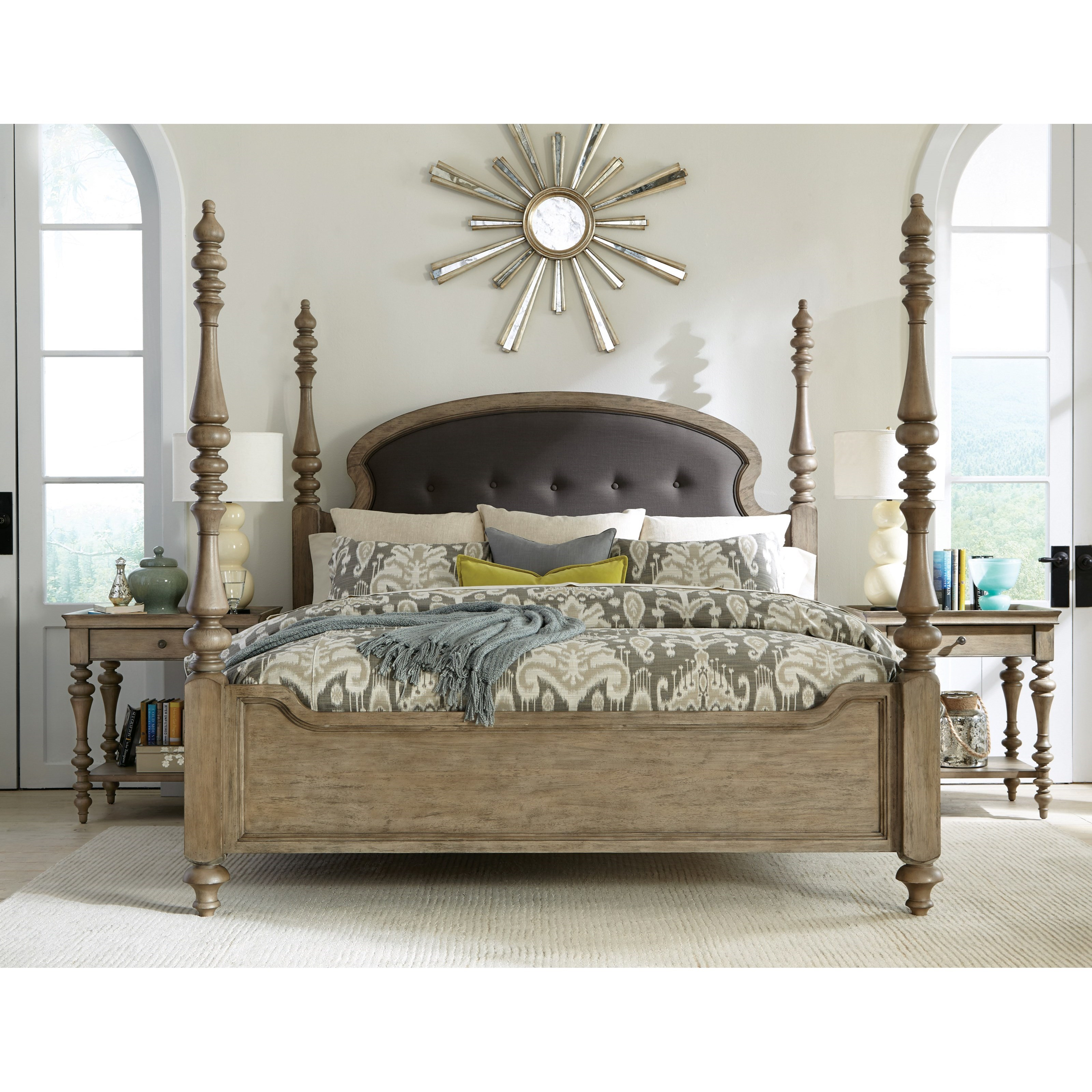 Riverside Furniture Corinne Leg Nightstand With Marble Top Jacksonville Furniture Mart Night