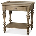Riverside Furniture Corinne Leg Nightstand with Marble Top