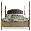 Riverside Furniture Corinne California King Upholstered Poster Bed - Item Number: 21584+5+2