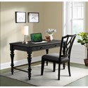 Riverside Furniture Corinne Writing Desk with Electric Outlet Bar