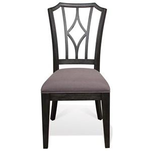 Riverside Furniture Corinne Upholstered Diamond Back Side Chair