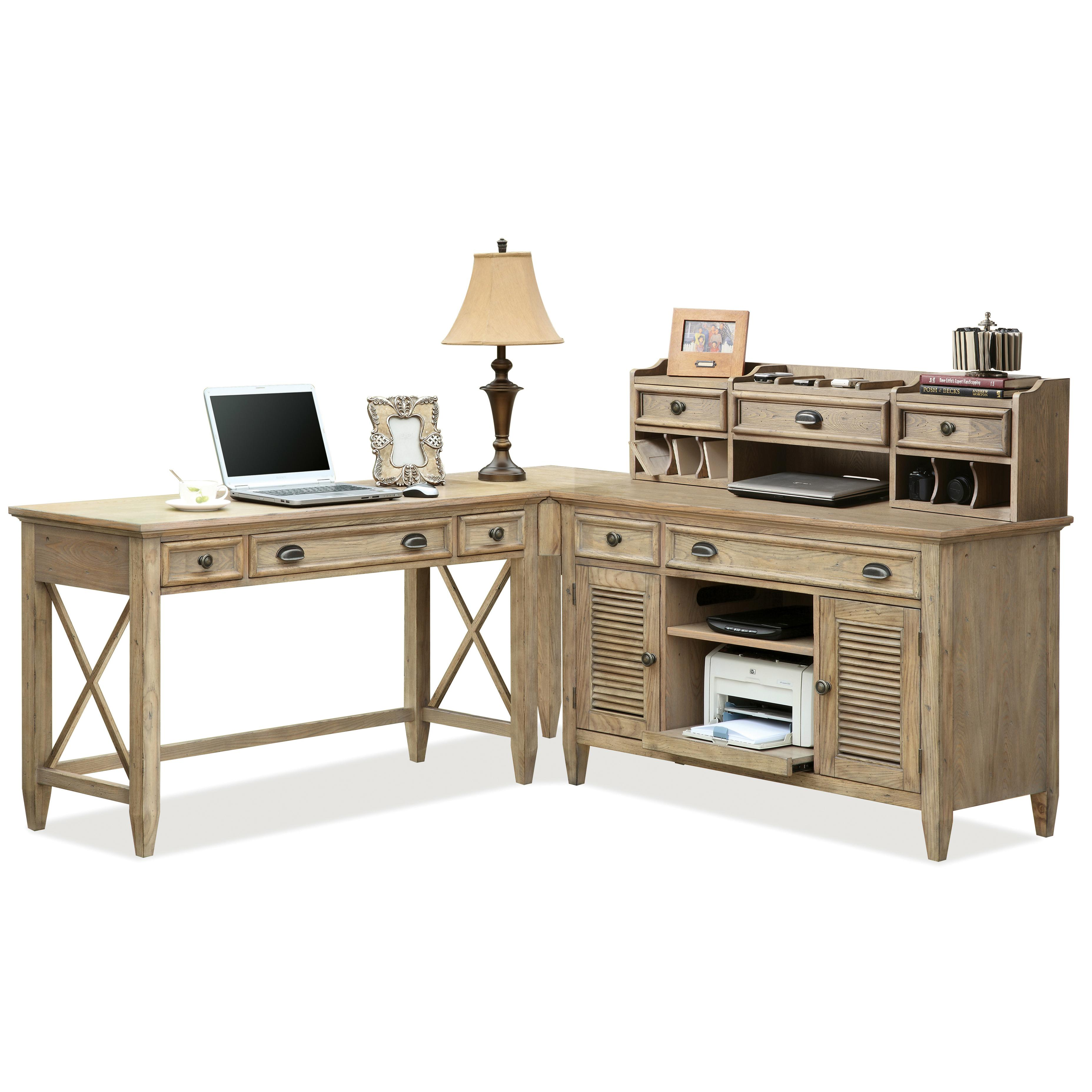 Riverside Furniture Coventry Corner Writing Desk U0026 Credenza With Hutch    AHFA   Desk U0026 Hutch Dealer Locator