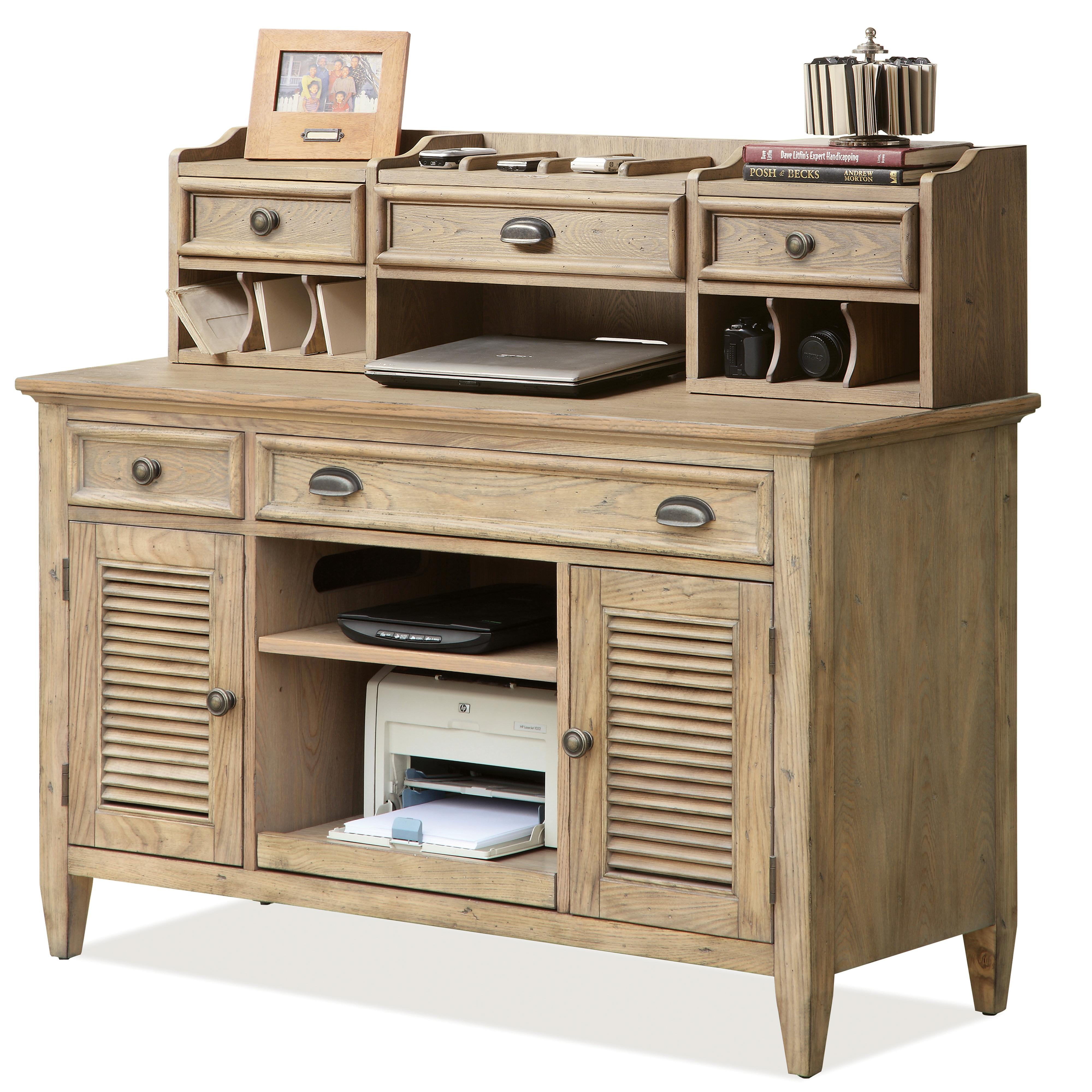 Riverside Furniture Coventry Credenza & Small Hutch - Item Number: 32423+26