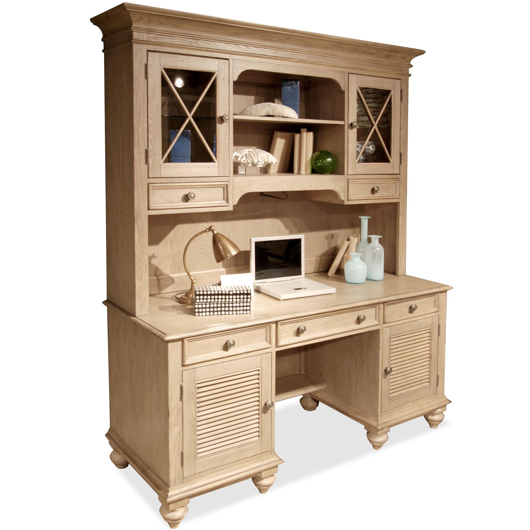 Riverside Furniture Coventry Shutter Door Credenza & Hutch - Item Number: 32433+36