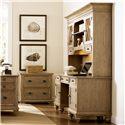 Riverside Furniture Coventry Shutter Door Credenza & Glass Door Hutch - Shown in Office