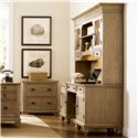 Riverside Furniture Coventry Lateral File Cabinet with 2 Drawers - Shown with Credenza & Hutch