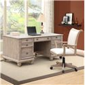 Riverside Furniture Coventry Executive Desk with 7 Drawers - Shown with Desk Chair